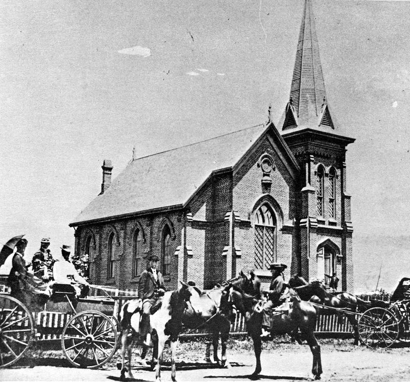 First Building of First Congregational Church of Santa Barbara at Santa Barbara and Ortega, 1869-1889